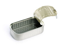 Empty sardine can Stock Image