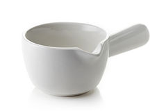 Empty sauce bowl Stock Photo