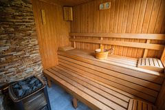 Sauna for aroma therapy royalty free stock image