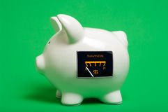 Empty Savings Gauge Piggy Bank Royalty Free Stock Photo