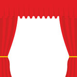 Empty scene. Red Curtain, outdoor. Theatre curtain Stock Photo