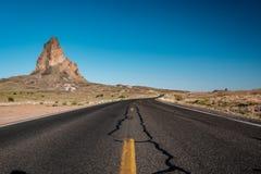 Empty scenic highway in Arizona. USA Royalty Free Stock Photo