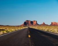 Empty scenic highway in Monument Valley. Arizona, USA Royalty Free Stock Photos