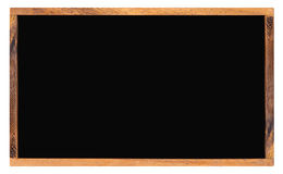 Empty school blackboard with space for text, wooden menu chalkbo Royalty Free Stock Images