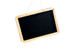 Empty school blackboard tilted Stock Photos