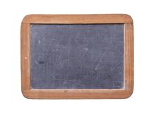 Empty school blackboard with wooden frame isolated Stock Photo
