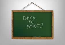 Empty school board for the writing a chalk Royalty Free Stock Images