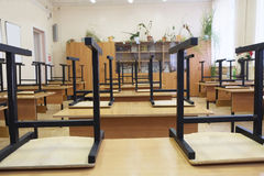 Empty school class Royalty Free Stock Photo