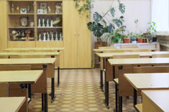 Empty school class Royalty Free Stock Images