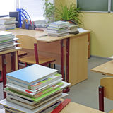 Empty school class Royalty Free Stock Image