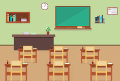Empty School Class Room Interior Royalty Free Stock Images