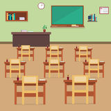 Empty School Class Room Interior Stock Image