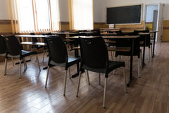 Empty school classroom Royalty Free Stock Image