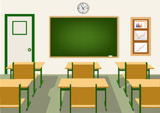 Empty school classroom with blackboard Royalty Free Stock Photography