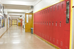 Empty School Hallway Royalty Free Stock Images