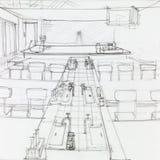 Empty school science laboratory Stock Image