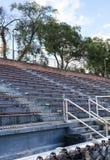 Empty school stadium bleachers royalty free stock photo