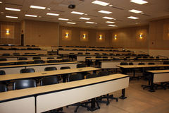 Empty Schoolroom. Empty classroom in the university after lecture time Stock Photography