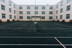 Empty schoolyard Royalty Free Stock Image