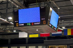 Empty scoreboard. Before the game Royalty Free Stock Photo