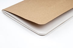 Empty scrapbook. On the  white backgroud Royalty Free Stock Photography