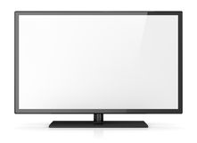 Empty screen hd tv Stock Photo