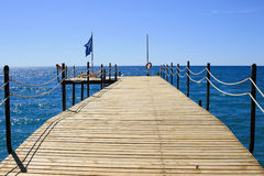 Empty sea pier Stock Photography