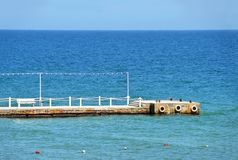 Empty sea pier Royalty Free Stock Photo