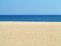 Empty sea and sand beach background on Costa Brava, Spain Royalty Free Stock Image