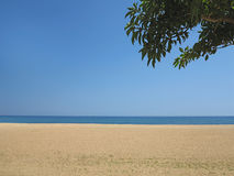 Empty sea and sand beach background on Costa Brava, Spain Stock Photography