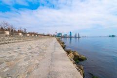 Empty seafront Stock Photo