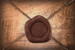 Empty sealing wax stamp Royalty Free Stock Photography