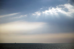 Empty seascape with ray of light (ROL) Royalty Free Stock Images