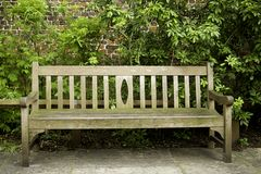 Empty seat. Wooden emptz seat in a park Stock Images