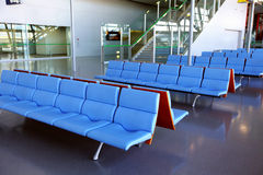 Empty seat in airport Royalty Free Stock Photography