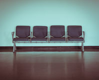 Empty seat at the airport Royalty Free Stock Photos