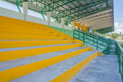 Empty seat at cement grandstand Royalty Free Stock Photography