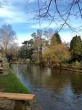 Empty seat. Cheltenham, Bourton on the river, UK Royalty Free Stock Photo