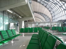 Empty Seat at Departure hall Royalty Free Stock Photos