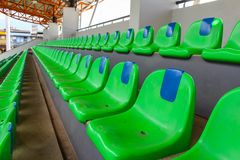 The empty seat of football stadium Royalty Free Stock Photography