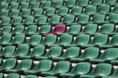 Empty seat of football stadium. Stock Photo