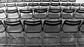 Empty seat. Image of empty seat in black and white Stock Images
