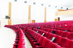 Empty seat on row in thearter closeup Royalty Free Stock Images