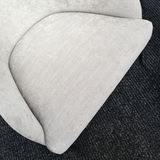 Empty seat of a simple gray armchair Stock Photography