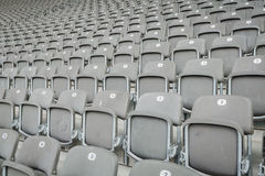 Empty seat in stadium Royalty Free Stock Photos