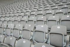 Empty seat in stadium. Row of empty seat in stadium Royalty Free Stock Photos