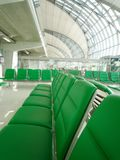 Empty Seating at the airport. Airport Empty seats at Departure Hall in Bangkok, Thailand Stock Image