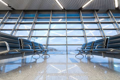Empty seating at the airport Stock Images