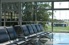 Empty seats. At the airport royalty free stock image