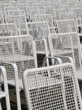 Empty seats. Big amount of empty chairs in rows Royalty Free Stock Image